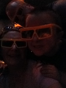 Fun with 3-D.  G only broke 1 set of glasses the whole time we were there!