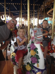 This is a much better spinning ride.  Even though some 2 year old kicked me off my horse!